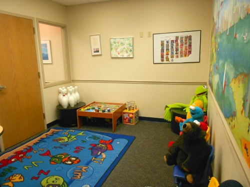 St. Louis - Children's eye exam - waiting area