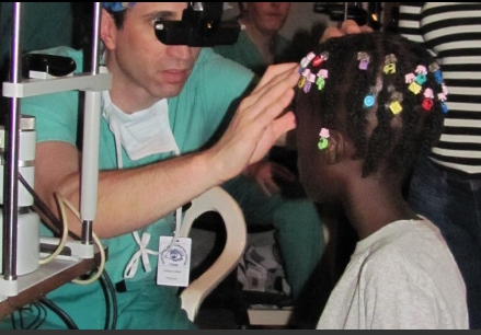 Haiti free eye clinic pediatric patient